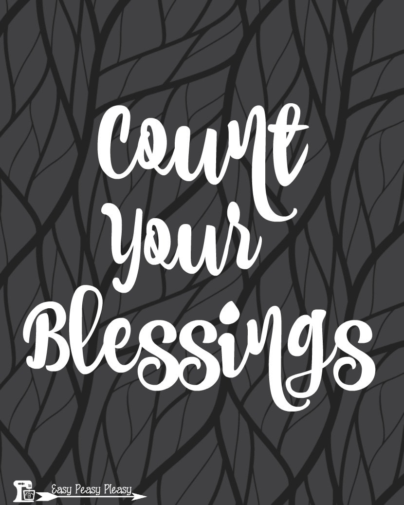 Count Your Blessings free Thanksgiving Printable 8x10