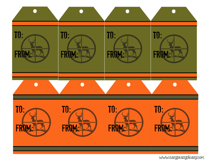 Free Printable Deer Hunter Gift Tags To and From