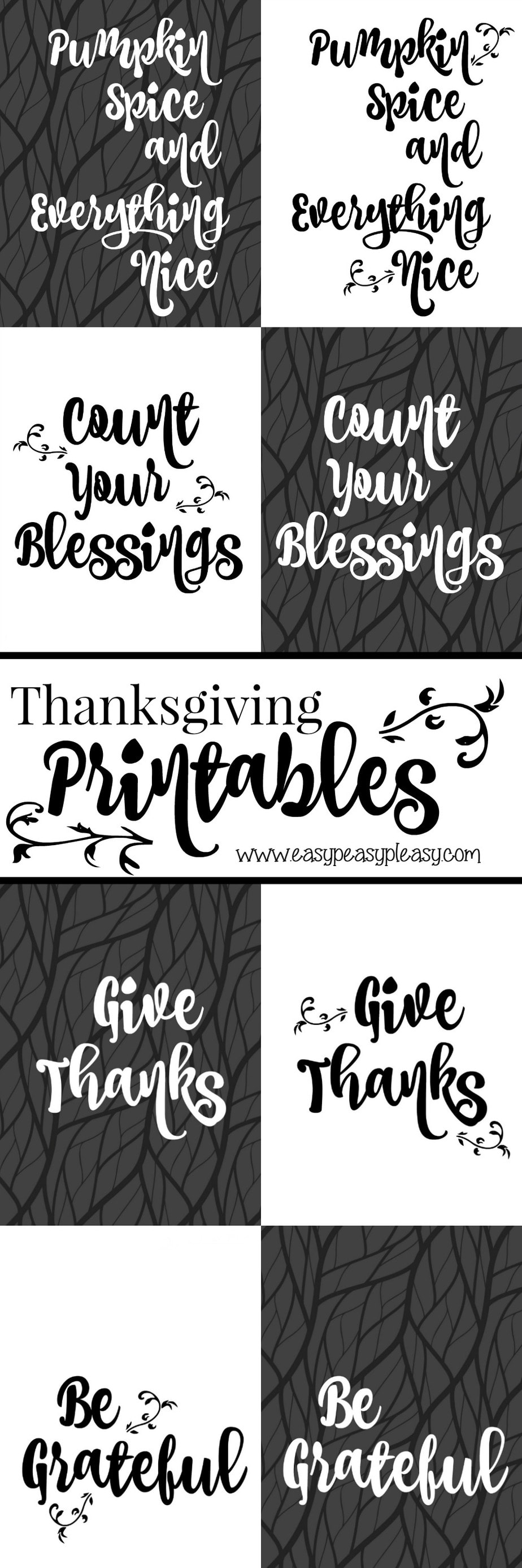 Free Thanksgiving Printables. Download all 8 free printables or the one free printable you want.