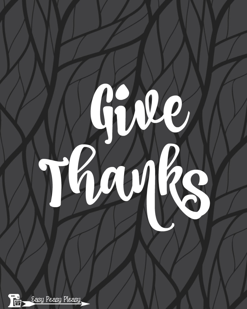 Free Thanksgving Printables Give Thanks 8x10