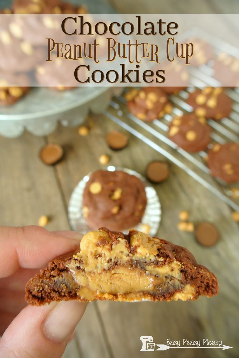 Only 5 Ingredients. Chocolate Peanut Butter Cookies using a cake mix.