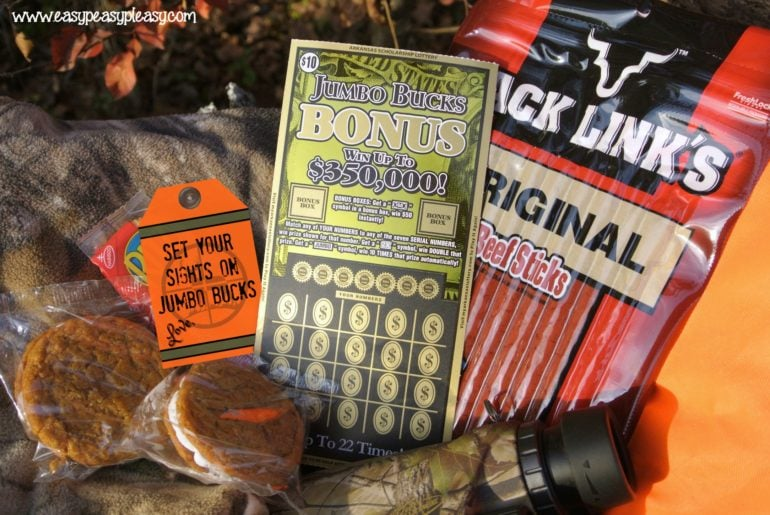 The perfect gift for the Hunter who has everything. Arkansas Scholarship Lottery Scratch Off Tickets with free printable gift tags.