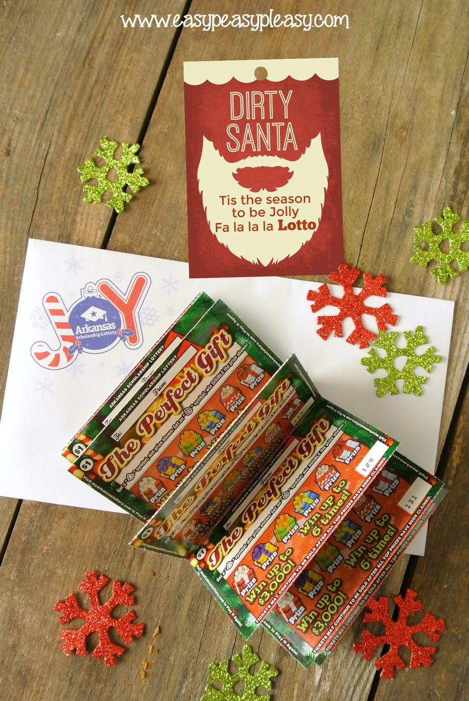 Arkansas Scholarship Lottery Tickets make the perfect Dirty Santa Gift. Come grab some free printable Christmas Gift Tags.