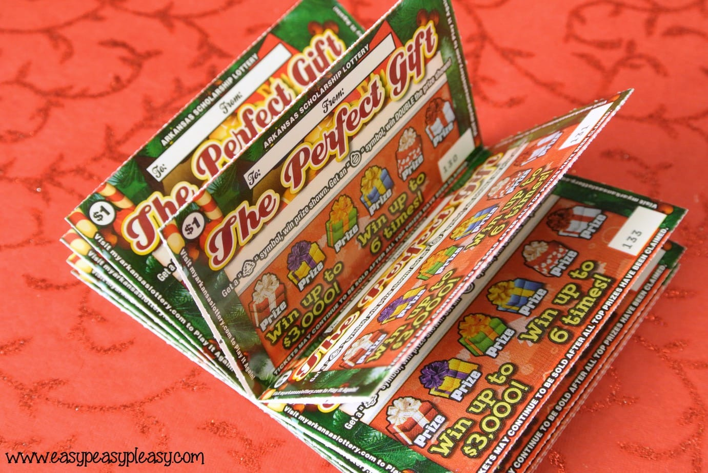 Arkansas Scholarship Lottery Tickets make the perfect gift to add to scavenger hunt clues. Check out my free printable clues.