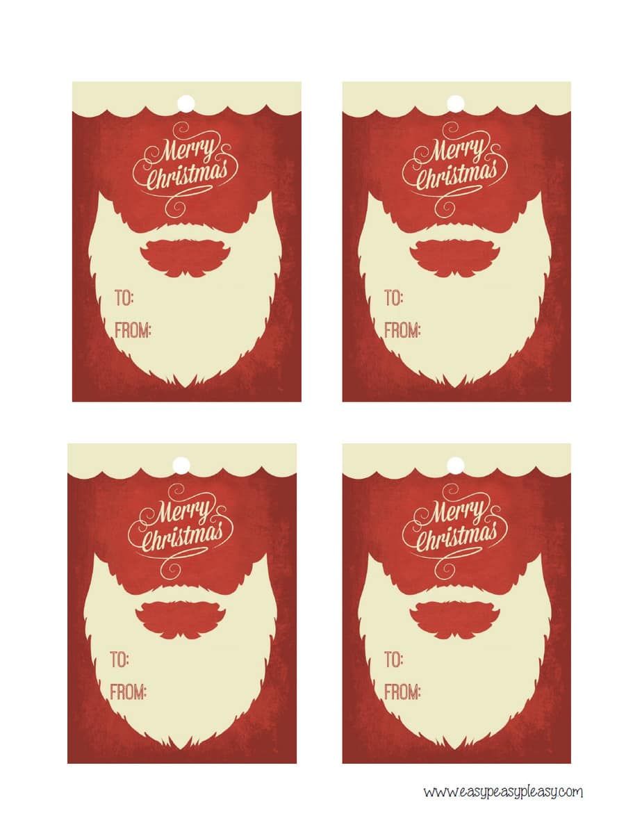 Free Printable Christmas Gift Tags. To: and From: