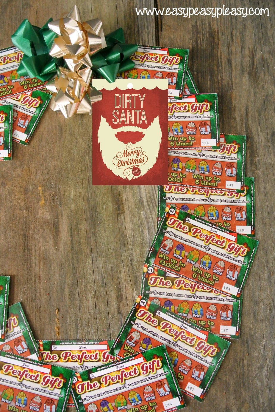 Free Printable Dirty Santa Gift Tags. Check out these Dirty Santa Lottery Ticket Gift Ideas.