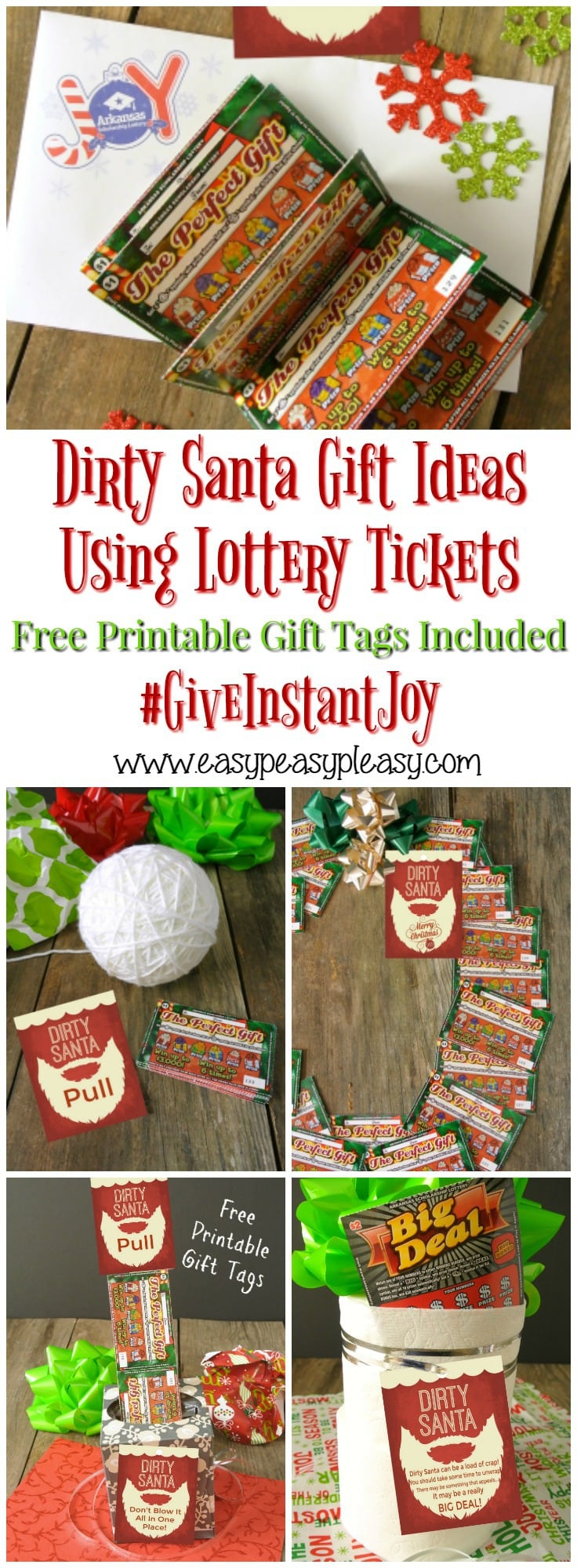 Use Lottery Tickets to give the best Dirty Santa Gifts. Grab some free printable gift tags and give the gift that keeps on giving. Arkansas Scholarship Lottery tickets Give Instant Joy!