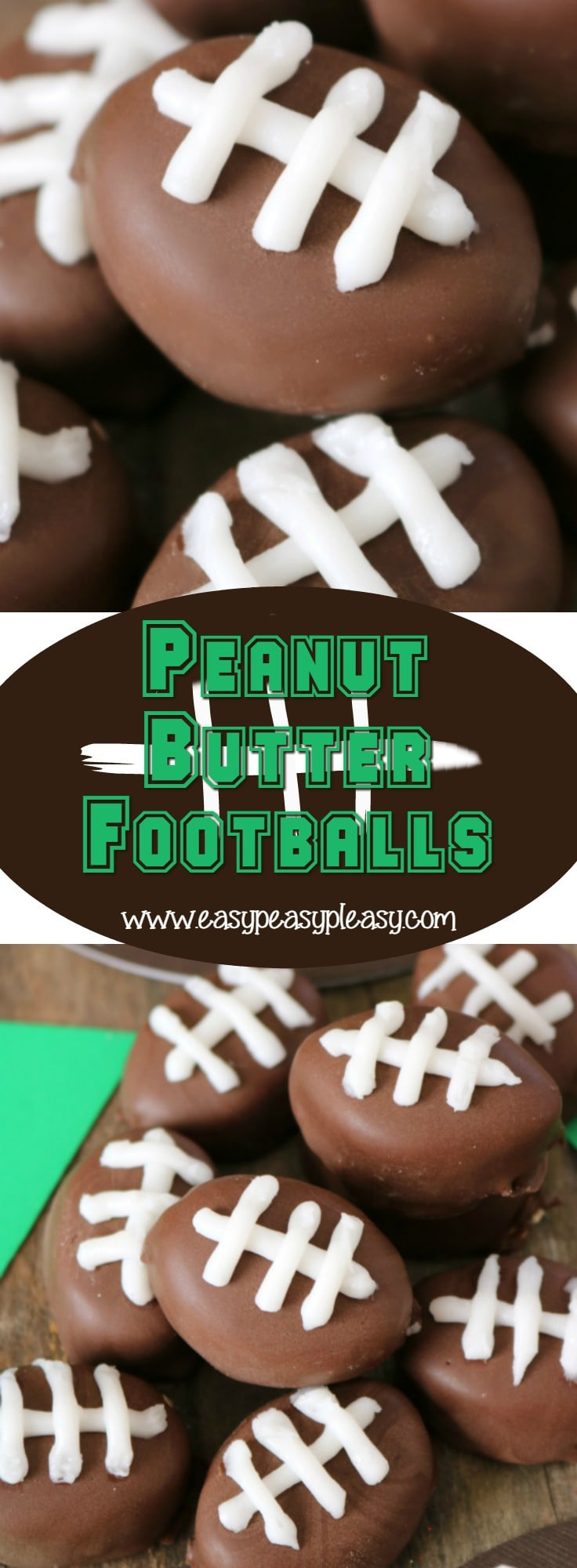 Peanut Butter Balls that will make football fans cheers make the perfect sweet treat on Game Day. Superbowl food made easy.