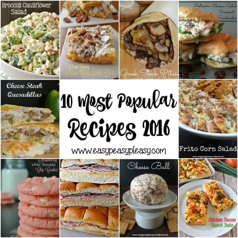 Top 10 Most Popular Recipes 2016