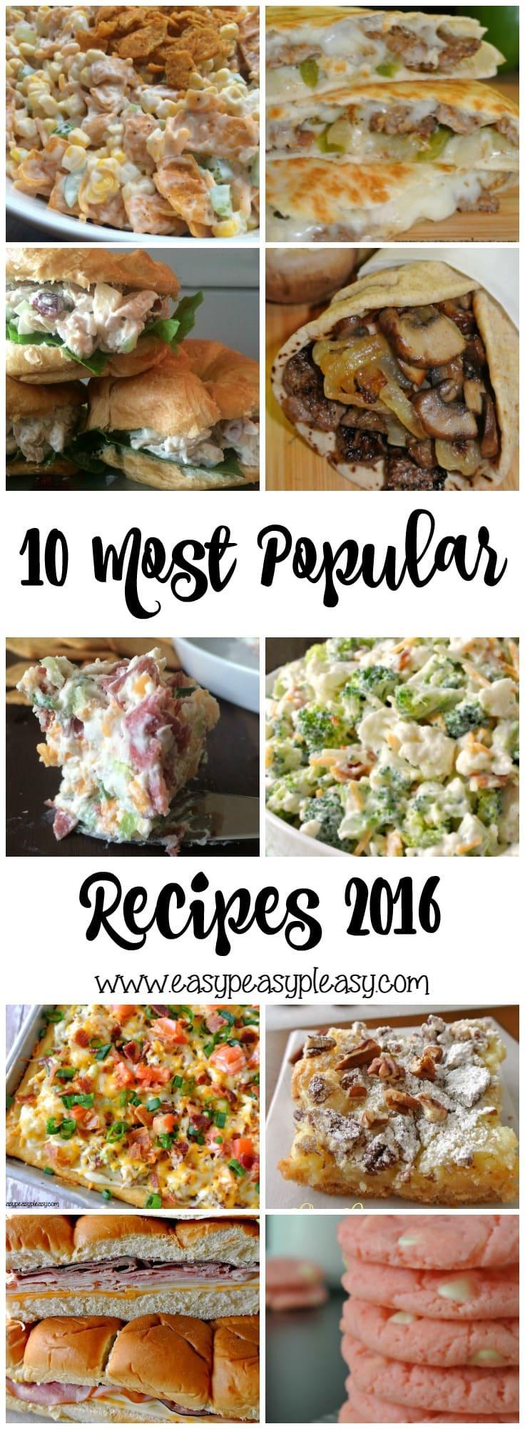 Top 10 Most Popular Recipes 2016
