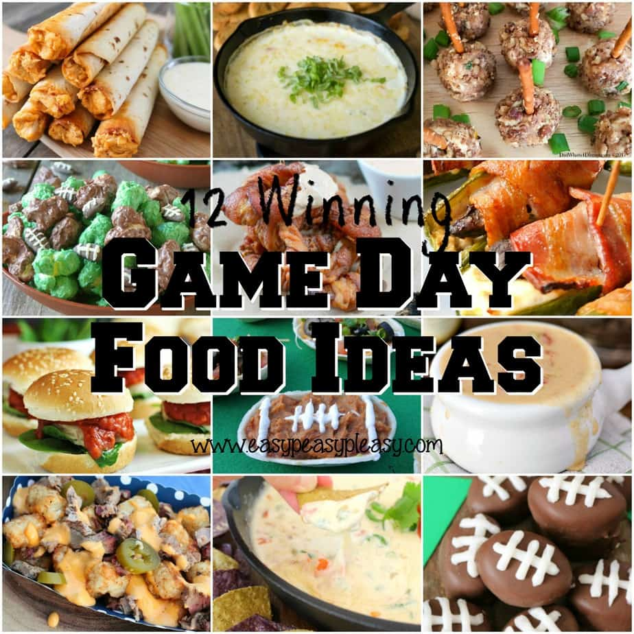 12 winning game day food ideas for your next tailgate or football party.