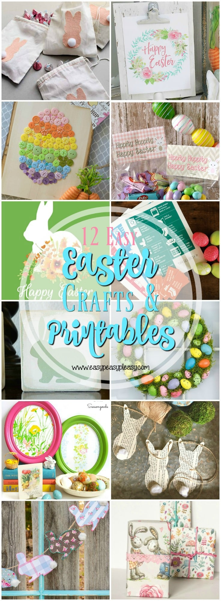 12 Easy Easter Crafts and free Printables