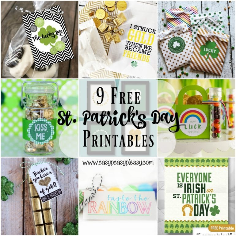 9 Free St. Patrick's Day Printables from amazing bloggers.