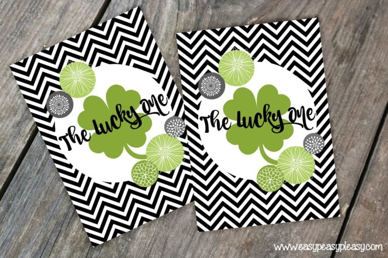 Free Printable St Patricks Day Gift Tags The Lucky One.