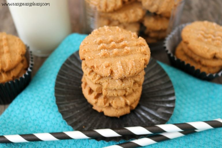 These quick and easy 3 Ingredient peanut butter cookies are perfect for satisfying your sweet tooth when you have limited ingredients in your pantry.