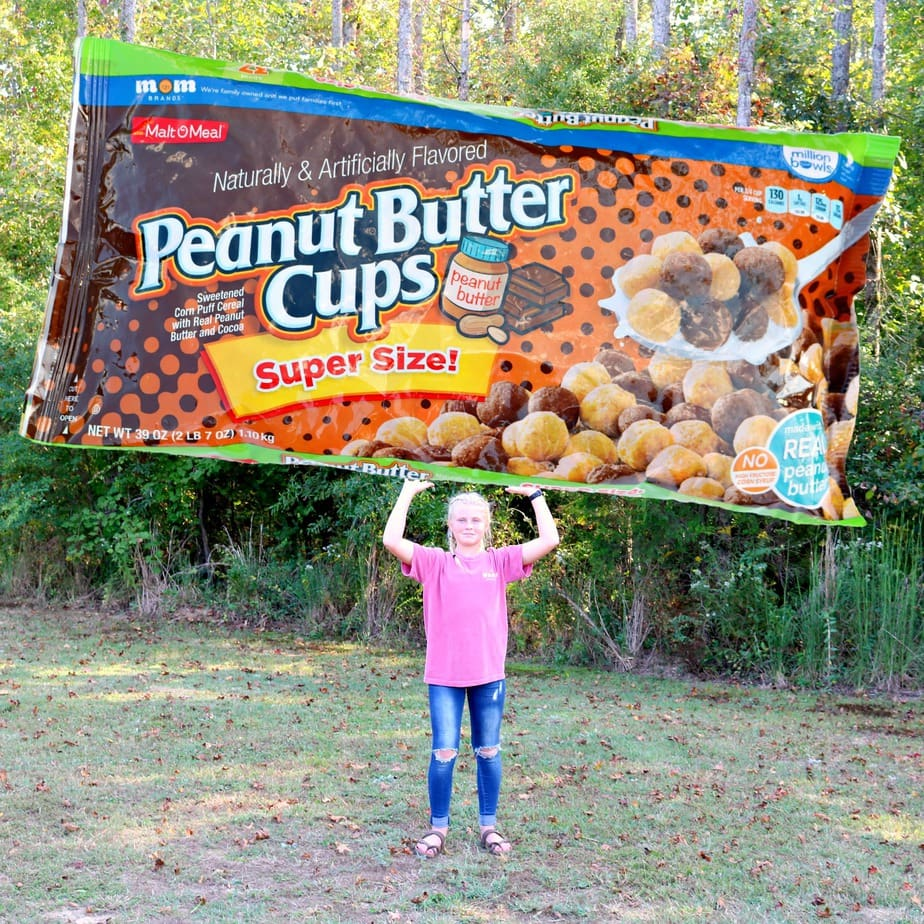 Peanut Butter Cups Cereal in a Super Size Bag that make the best cereal snack mix! (ad)
