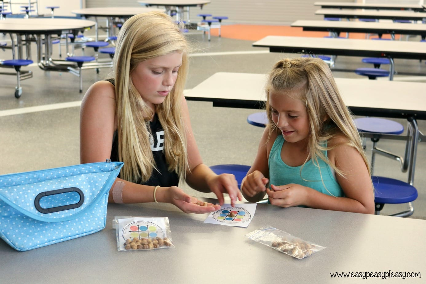 Cereal lunchbox game using this free printable.