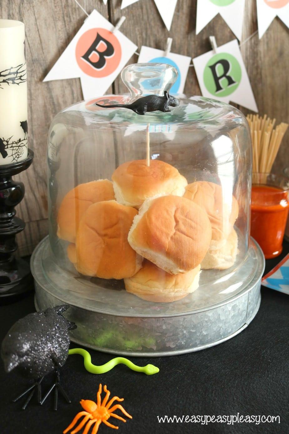Chicken Slider Recipes start with a slider bun!