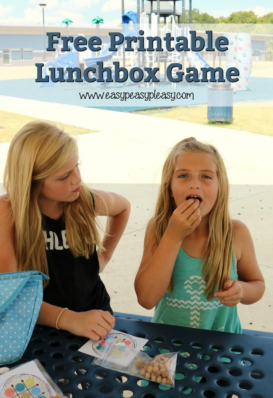 Free Printable Lunchbox game using cereal. No pens, pencils, or crayons needed.