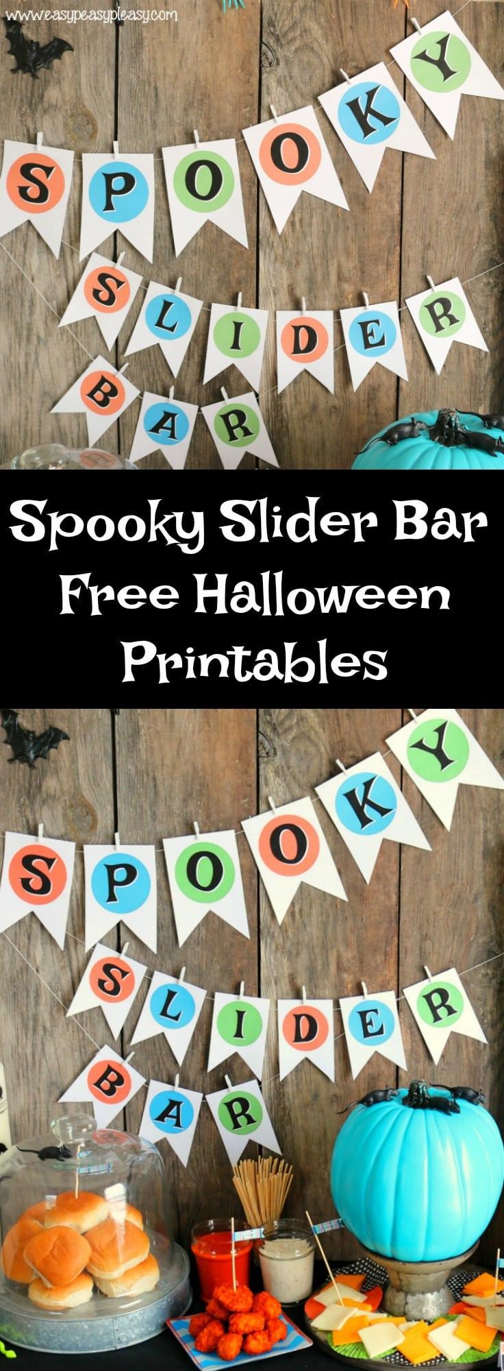 Free Spooky Slider Bar Halloween Printables.