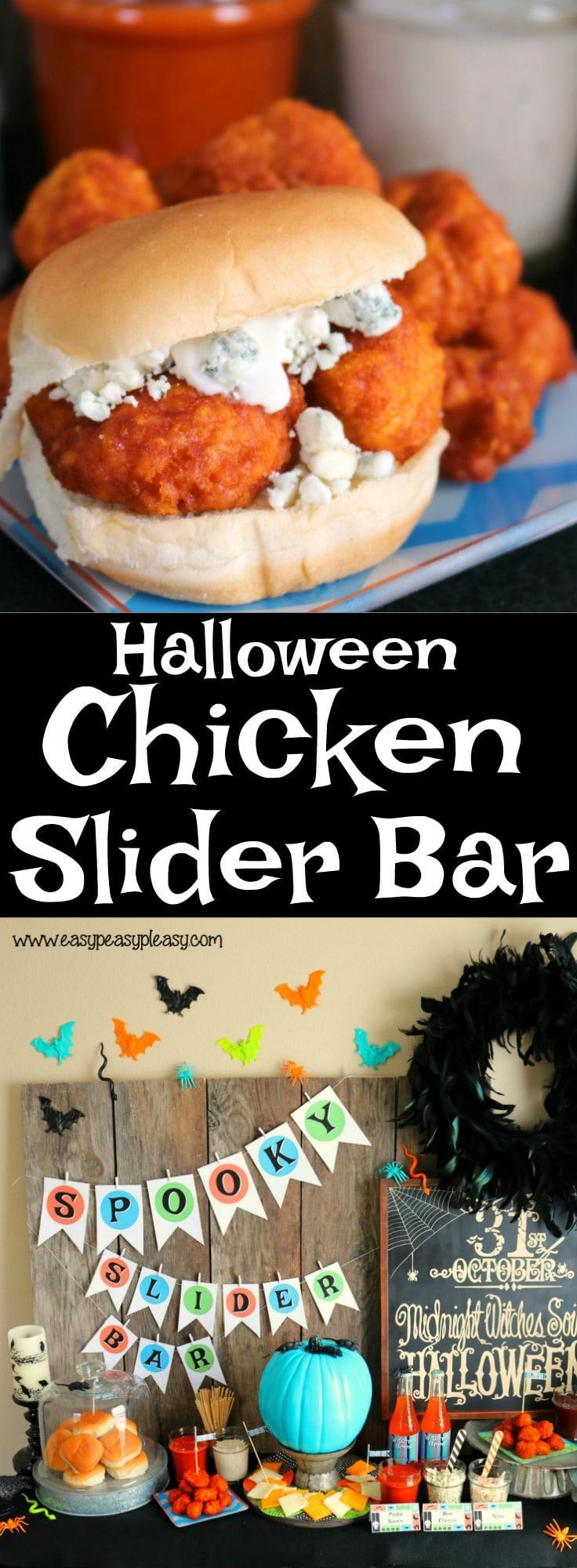 Halloween Chicken Slider Bar