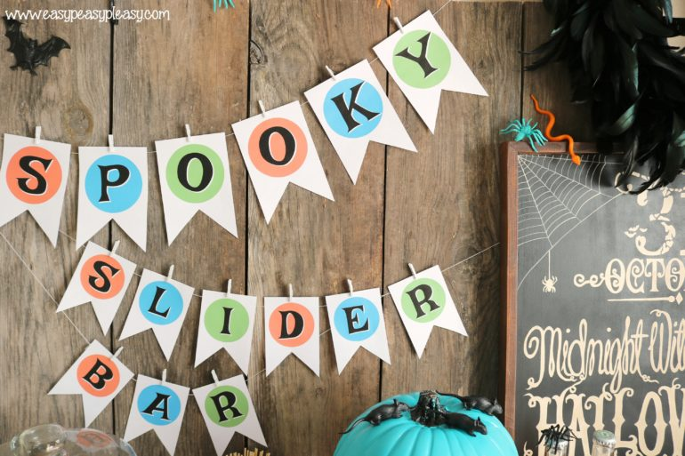 Chicken Slider Bar Halloween Printables