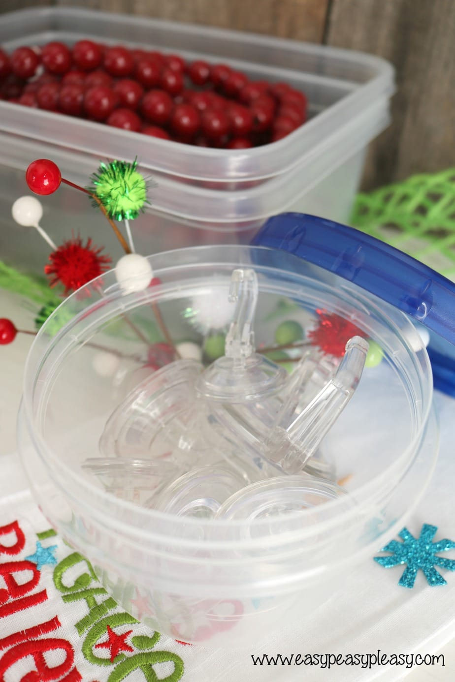 AD Ziploc containers are perfect for holiday storage.