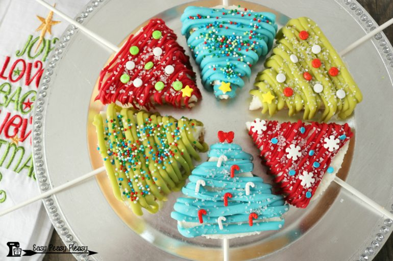 Cheesecake Christmas Trees from easypeasypleasy.com