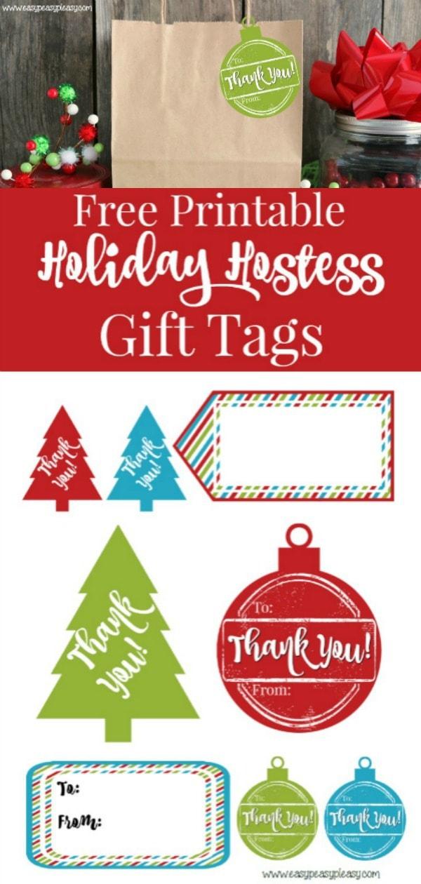 Free Printable Christmas Gift Tags. #christmas #christmasgifttags #printablechristmasgifttags