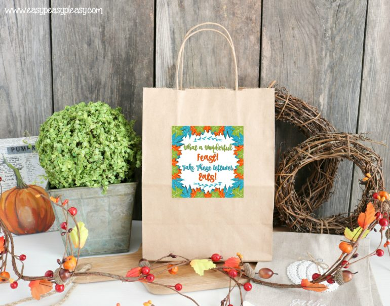 Free Printable Thanksgiving Leftover Gift Tags
