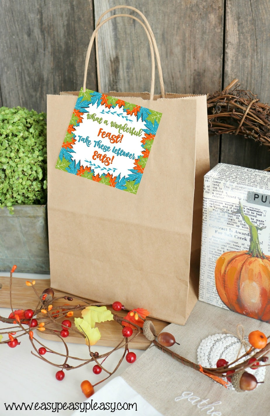 Free Printable Thanksgiving Leftovers Gift Tags at easypeasypleasy.com