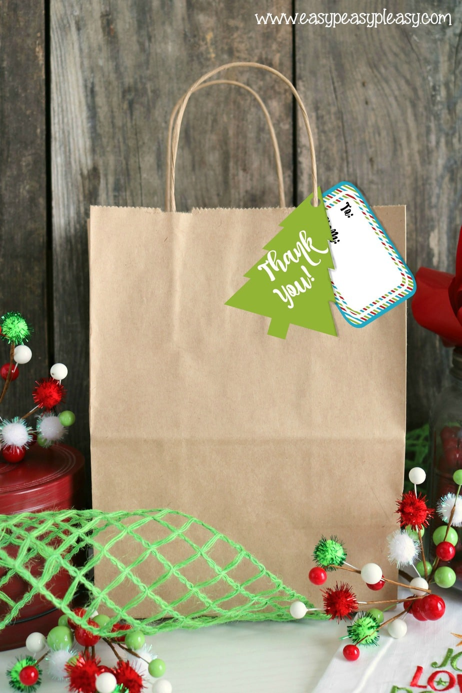 Free Printable Holiday Hostess Gift Tags - Easy Peasy Pleasy