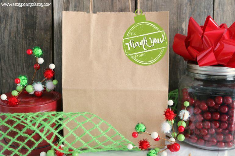 Holiday Hostess Gift Tags