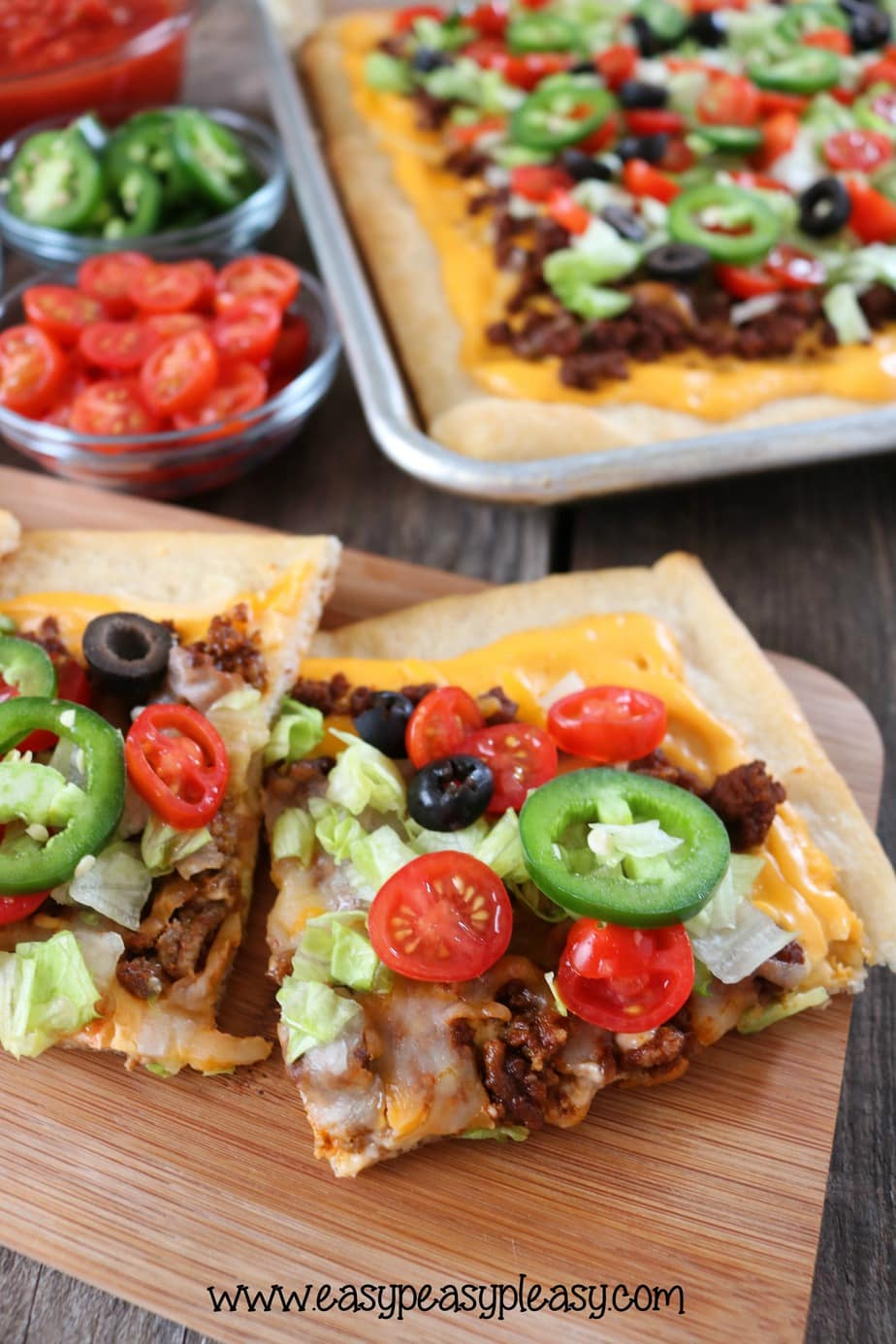 Easy Sheet Pan Taco Pizza