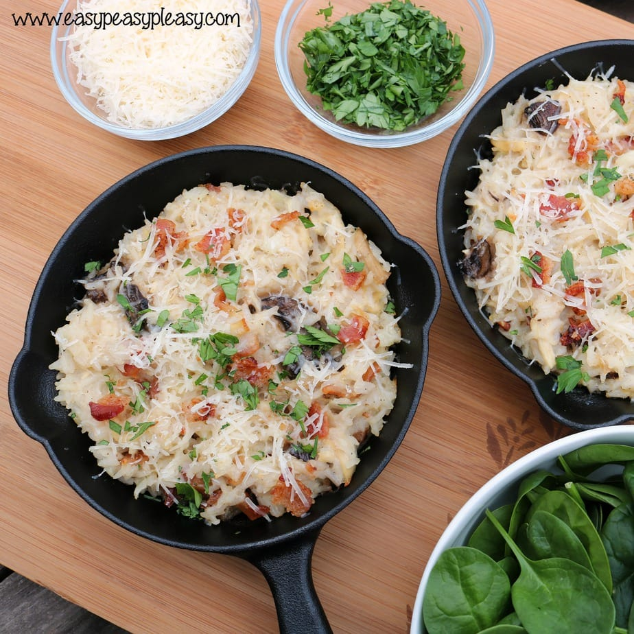Make the perfect comfort food using Riceland Boil in Bag for a Delicious Cheesy Chicken and Bacon Rice Casserole