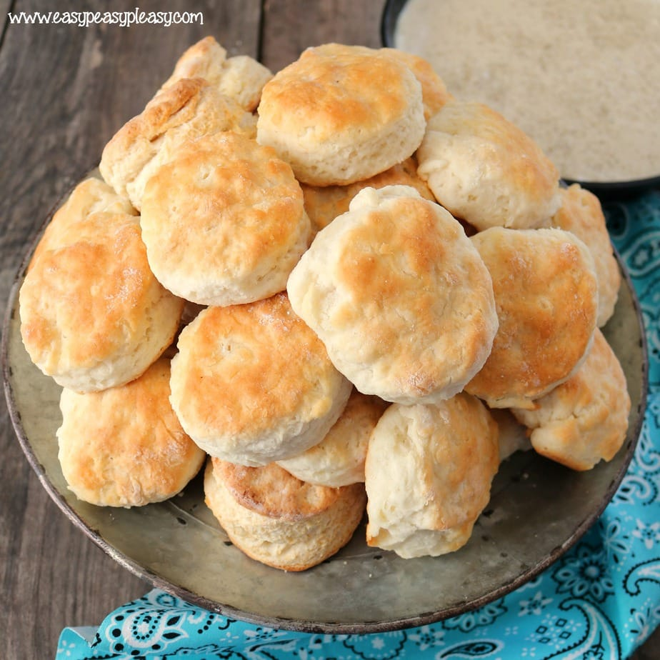 These mouthwatering homemade biscuits are made using only 4 ingredients and they turn out fluffy and delicious every time. Pops taught me hands on and I'm sharing his recipe with you.