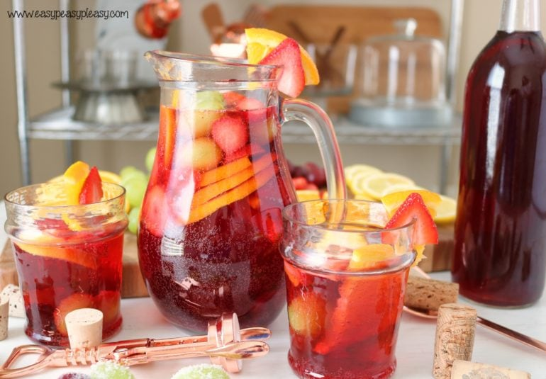 This Deliciously Fruity Sangria Recipe is the perfect drink that your guests will love.