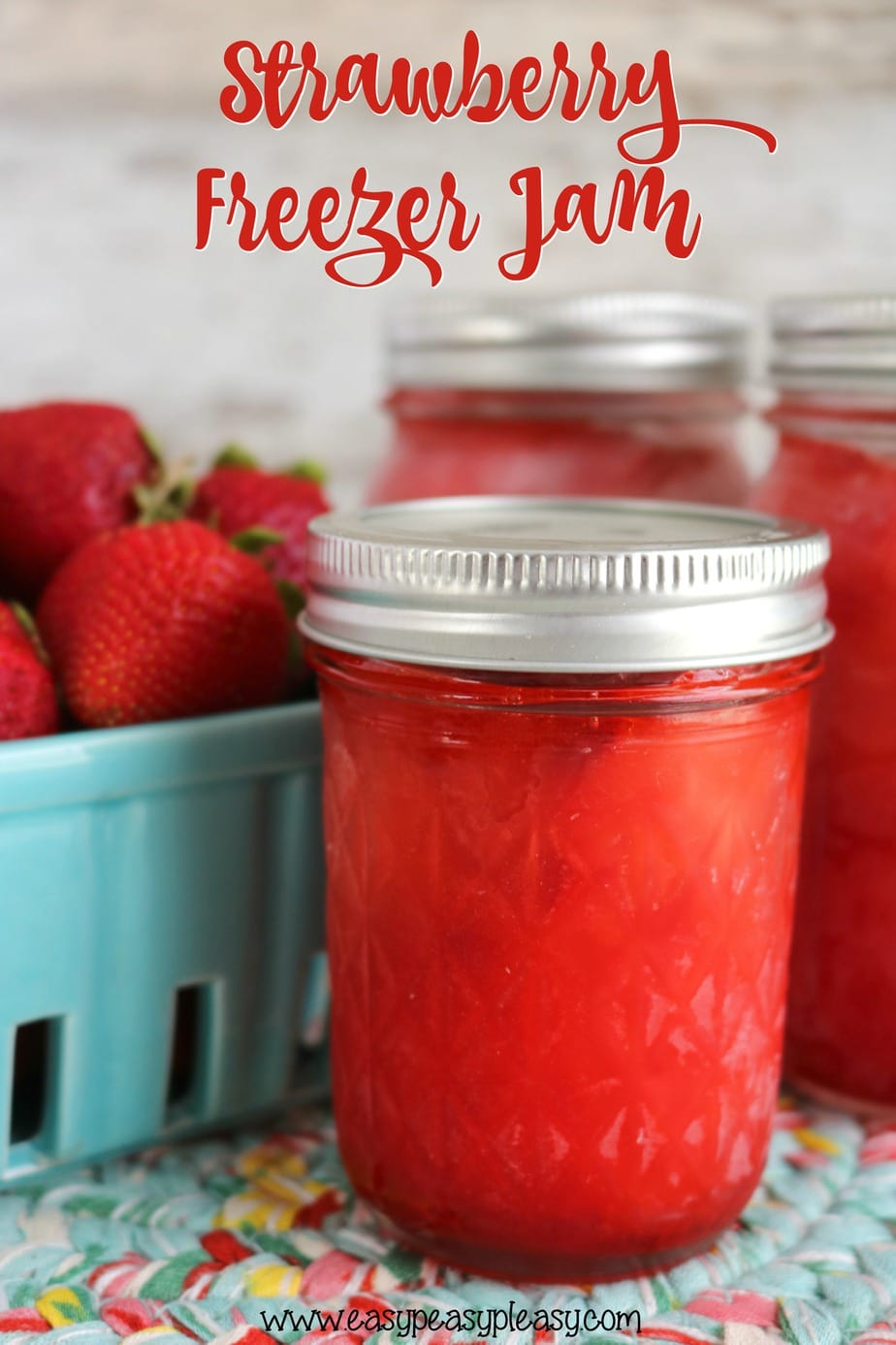 Want to buy a flat of strawberries Check out my favorite ways to use up all those strawberries, including this super easy 3 Ingredient Strawberry Freezer Jam.