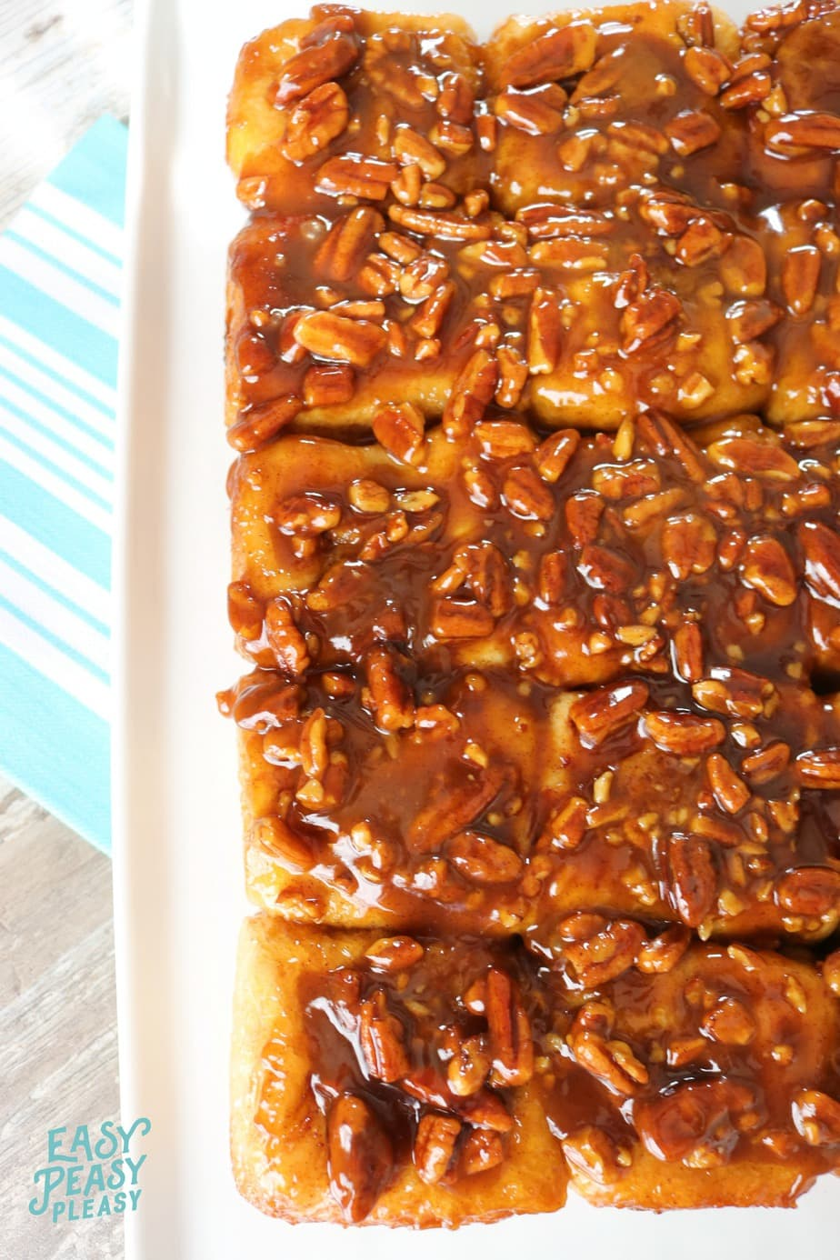 Oh my goodness these Sticky Pecan Caramel Rolls will satisfy your sweet tooth and be a show stopper at your next breakfast, brunch, lunch or after dinner dessert. Only 6 Ingredients!