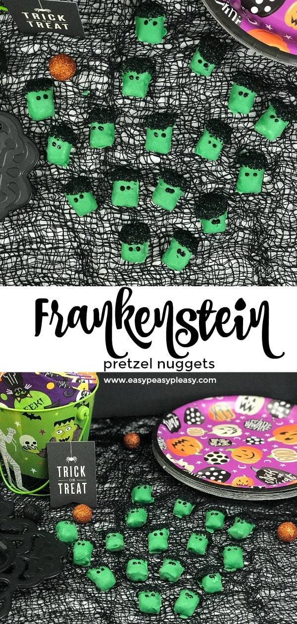 4 Ingredient Frankenstein pretzel nuggets desperatelyseekinggina