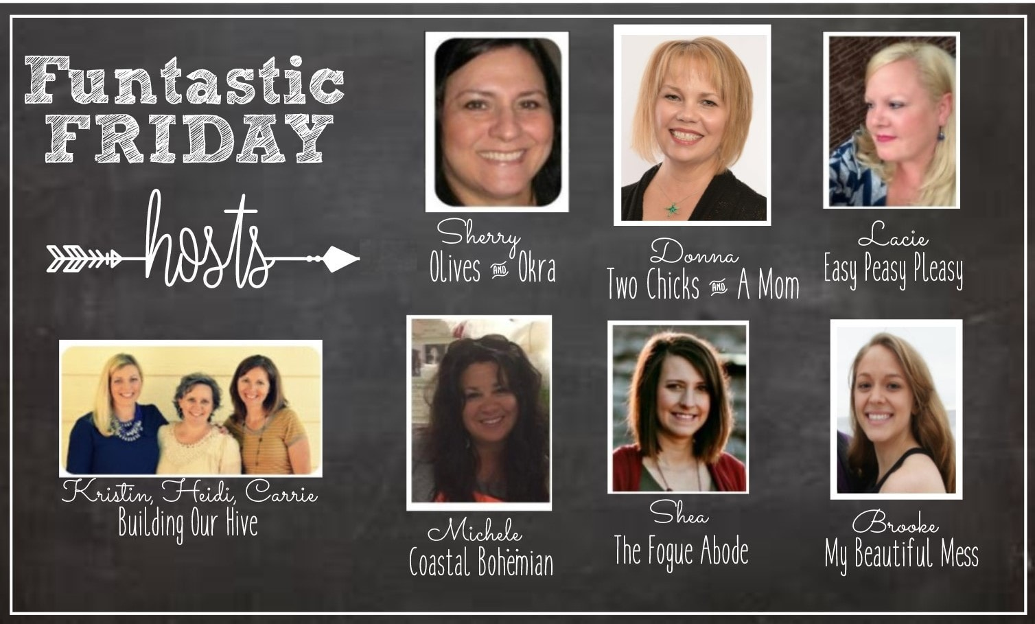 Funtastic Friday Link Party Hosts. Link up your best blog posts at www.easypeasypleasy.com
