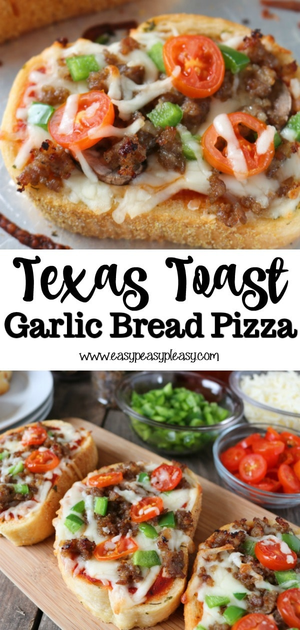 Make weeknight meals super easy and fun for the whole family with a box of Texas Toast Garlic Bread. Make the toppings super easy or even easier for 10 minute pizzas.