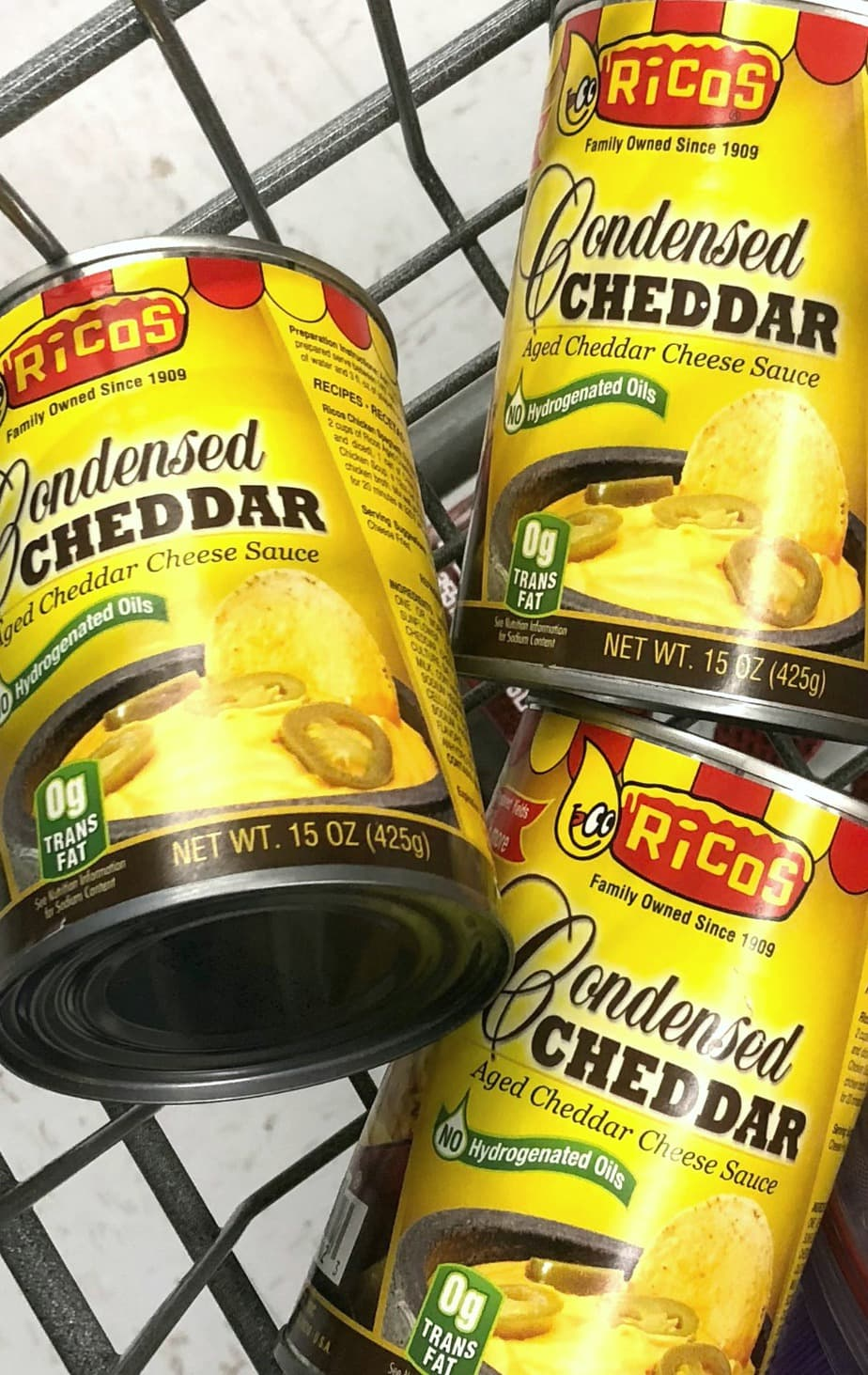 Ricos Condensed Cheddar makes everything better. Perfect for Bacon Cheeseburger Soup and freezes well.