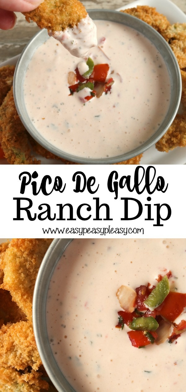 Liven up your Ranch Dip with a few added ingredients. All you need is some store bought Pico De Gallo and some hot sauce. Check out this easy recipe.