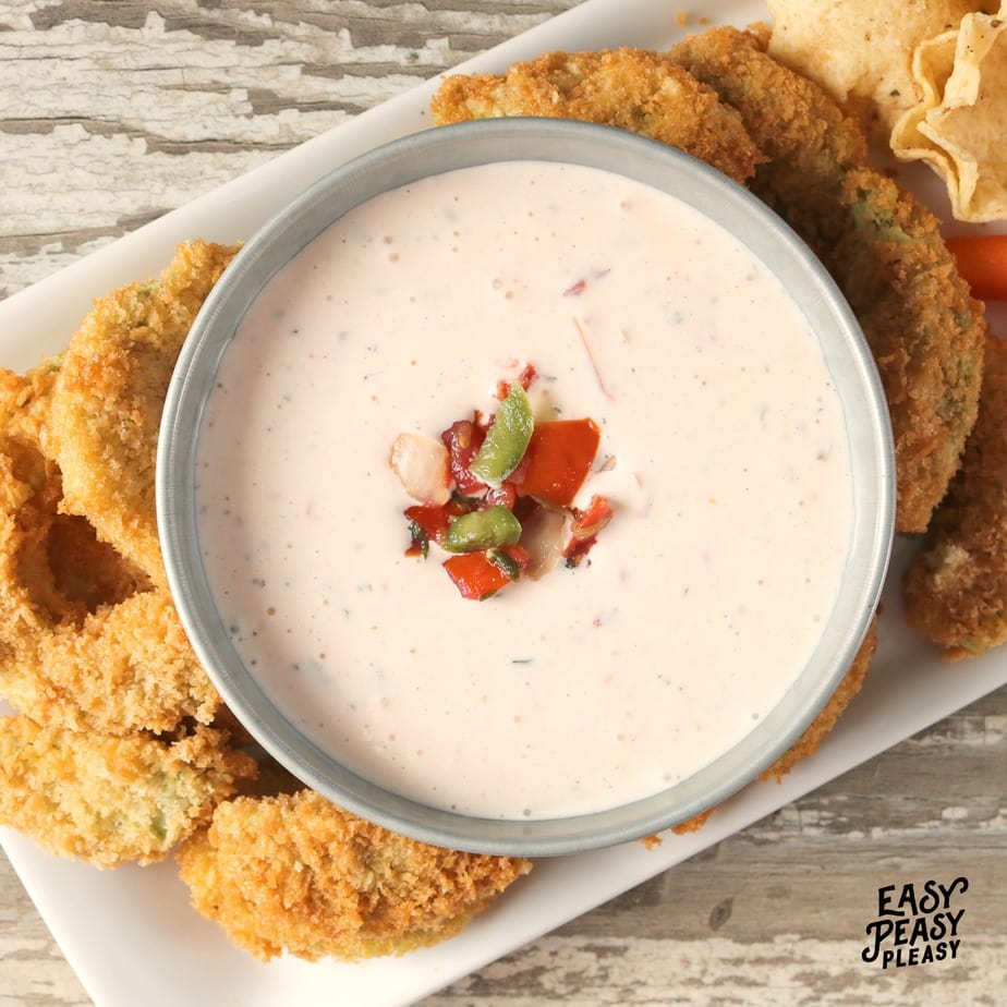 Liven up your delicious Ranch Dip with a few added ingredients. All you need is some store bought Pico De Gallo and some hot sauce. Check out the easy recipe.