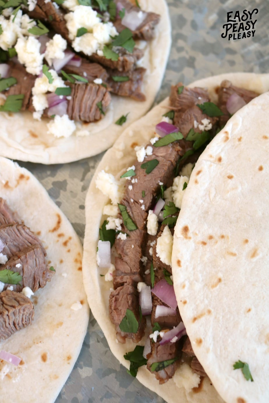 Steak Soft Tacos are perfect for Cinco De Mayo, Taco Tuesday, or any day of the week.