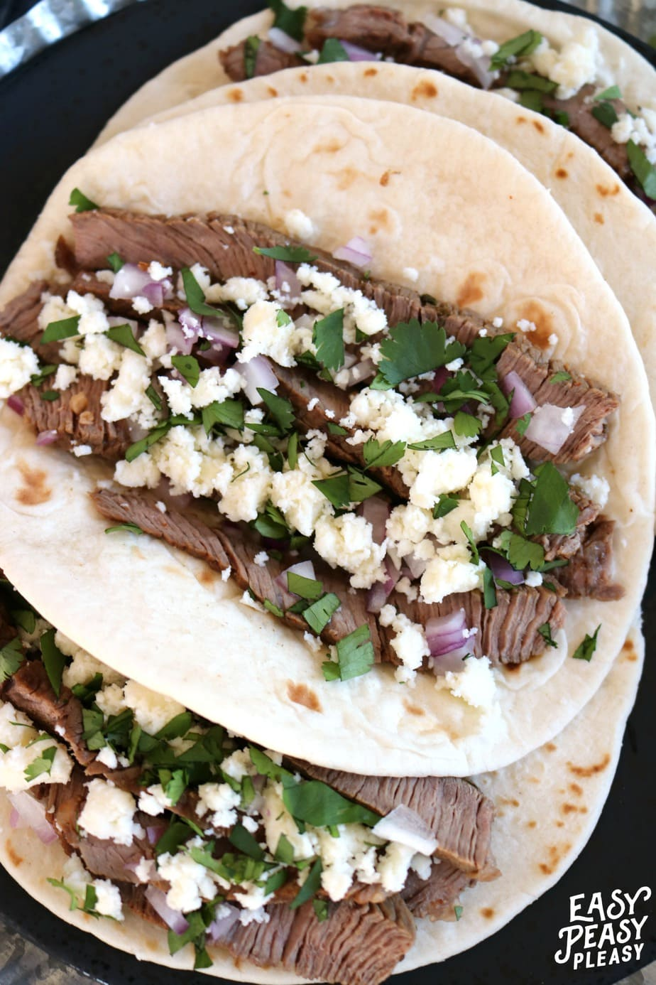 Steak Tacos is the perfect recipe addition to Taco Tuesday, Cinco De Mayo, or any day of the week.