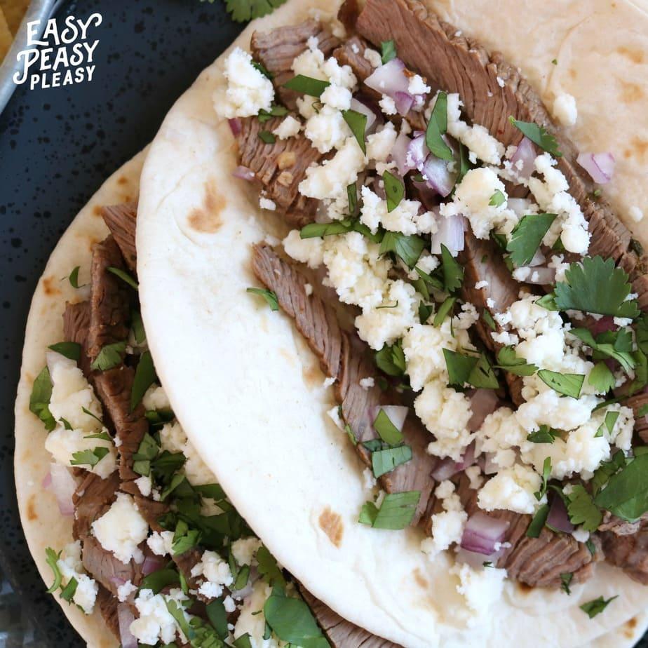 Super Easy Steak Tacos Recipe.