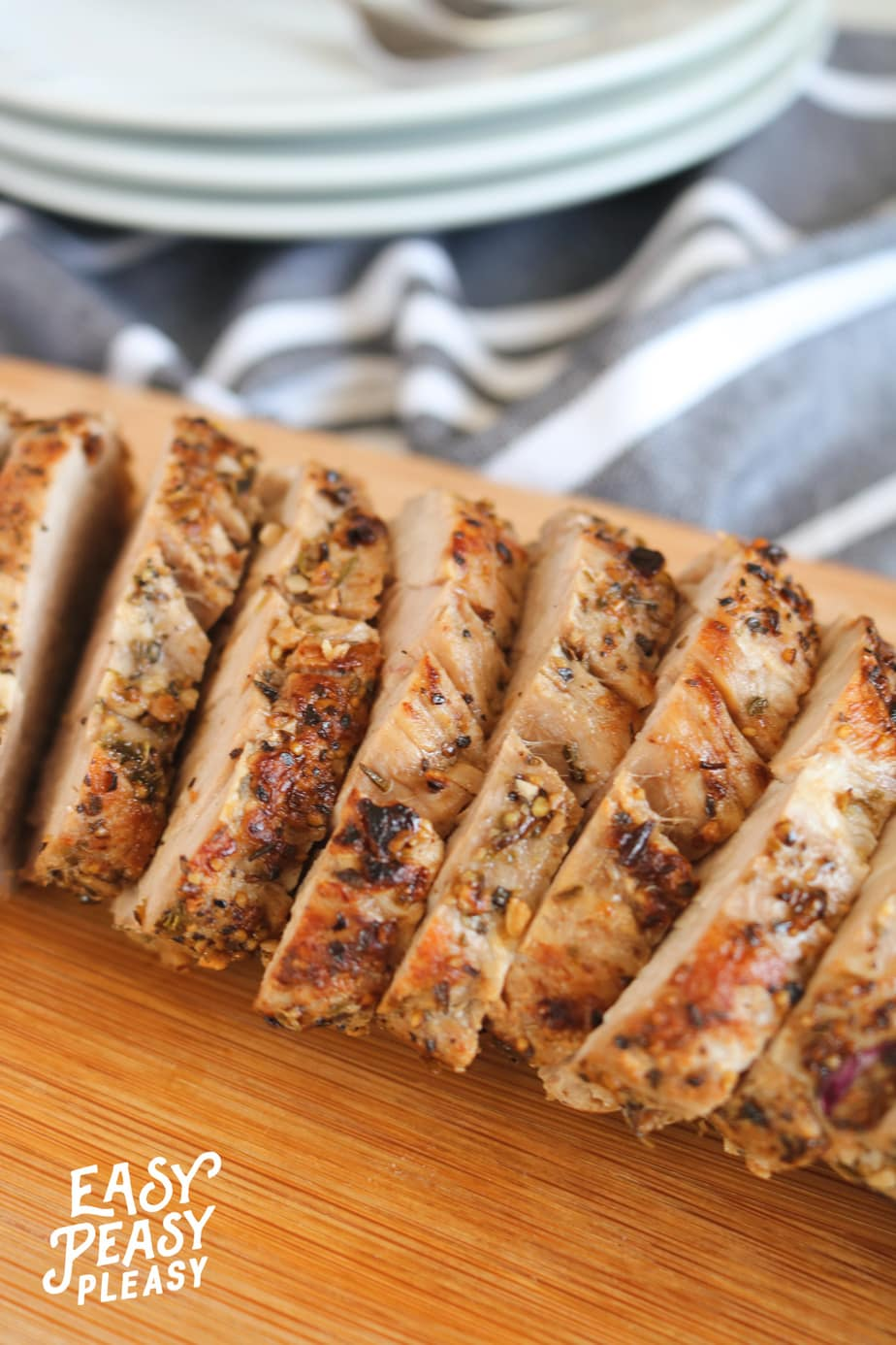 Inexpensive Juicy Pork Tenderloin Recipe from Easy Peasy Pleasy.