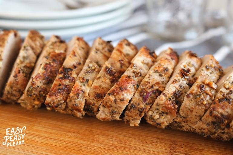 Juicy Pork Tenderloin Recipe from Easy Peasy Pleasy